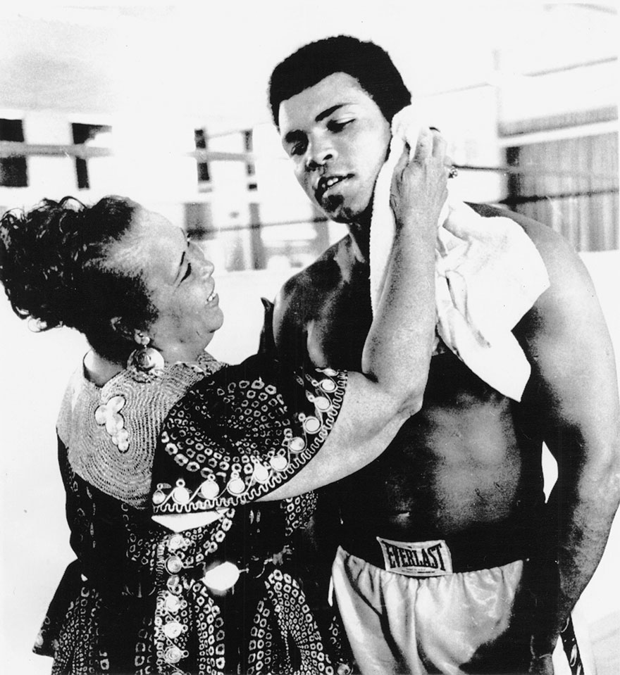 Ali And His Mother, Odessa, In October 1974 In Zaire, Where He Was Training For His Match With Foreman