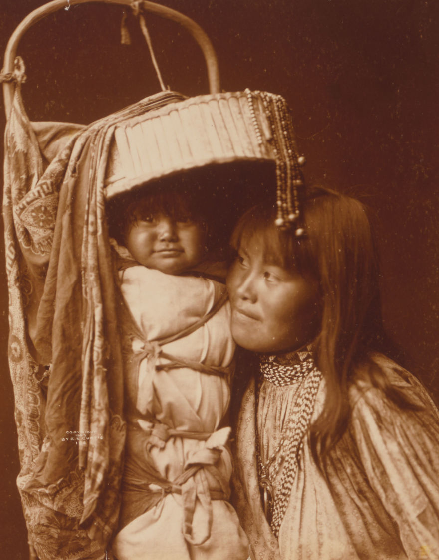 Apache Girl And Papoose, 1903