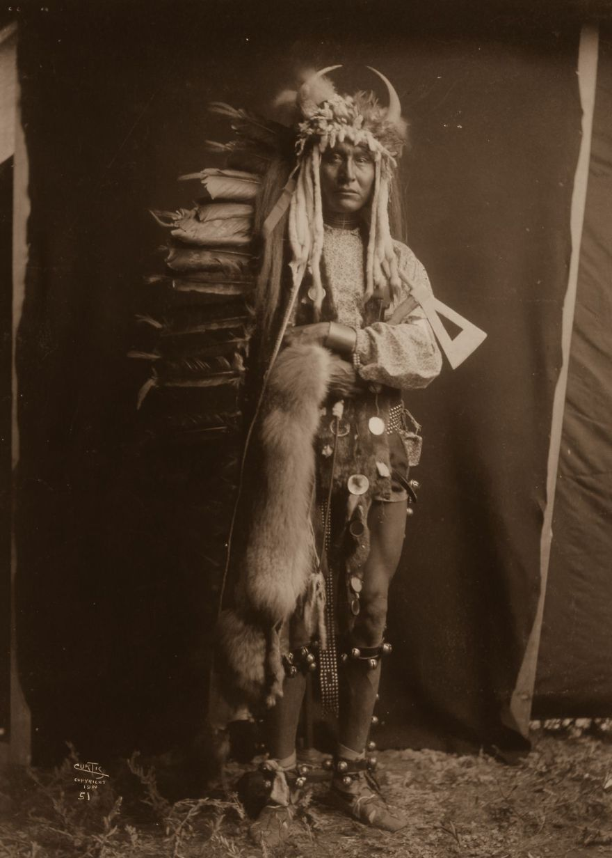 Ron Breast, A Piegan Man, 1900
