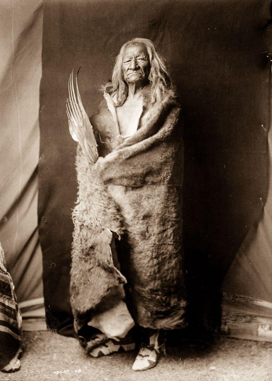 Black Eagle, An Assiniboin Man, 1908