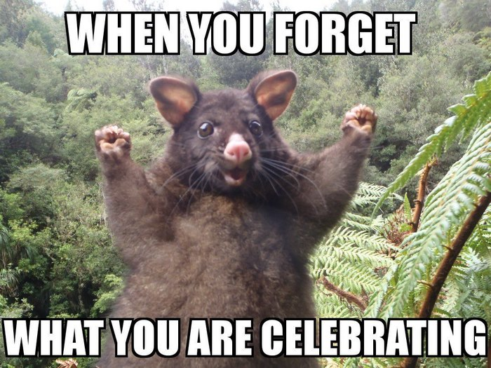 When You Forget What You Are Celebrating