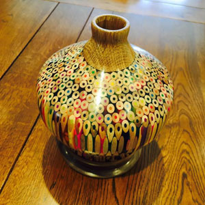 Artist Makes A Vase Entirely Of Pencils