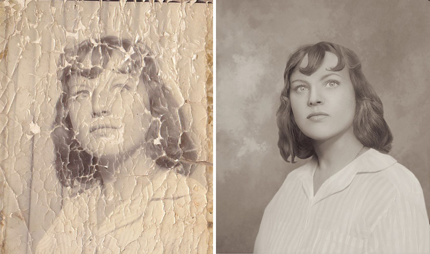 Restore old faded photo photoshop