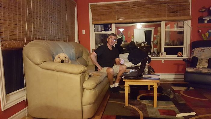 """i Will Never Let A Dog On My Furniture""…..famous Last Words, Dad."