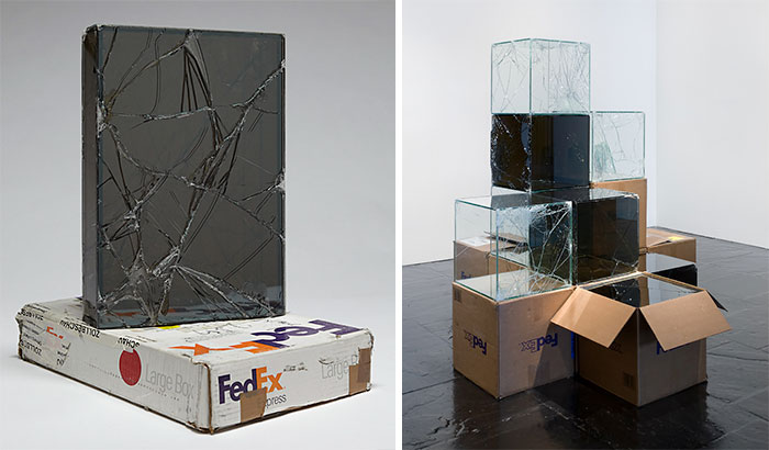 Este artista pasó 9 años usando FedEx para envíar cajas de cristal y crear esculturas destrozadas