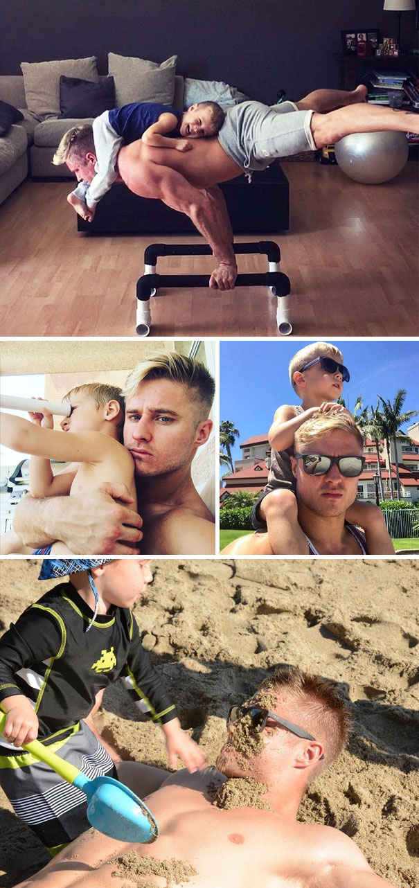 An Acrobatic Single Dad, Who Quits University To Join Circus, And His Adorable 3-Year-Old Son