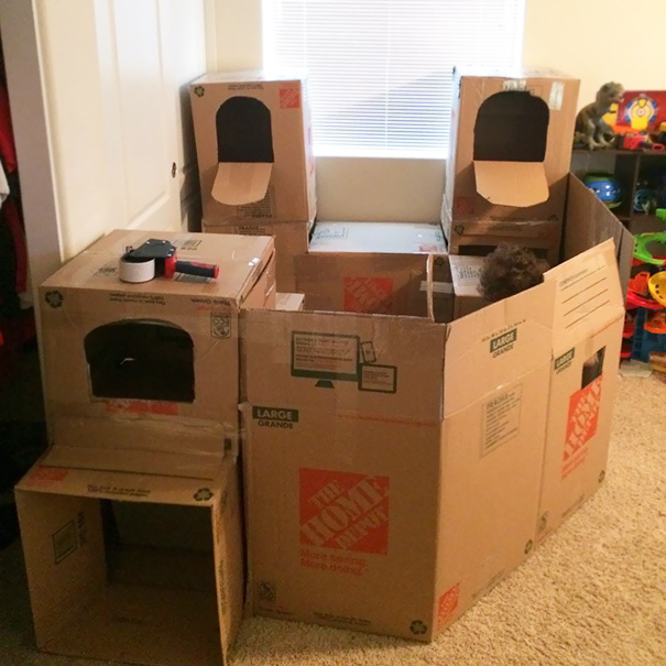 Built A Box Fort For My Son Today