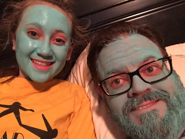 Just A Normal Friday Night With Sea Salt Clay Masks Watching A Movie