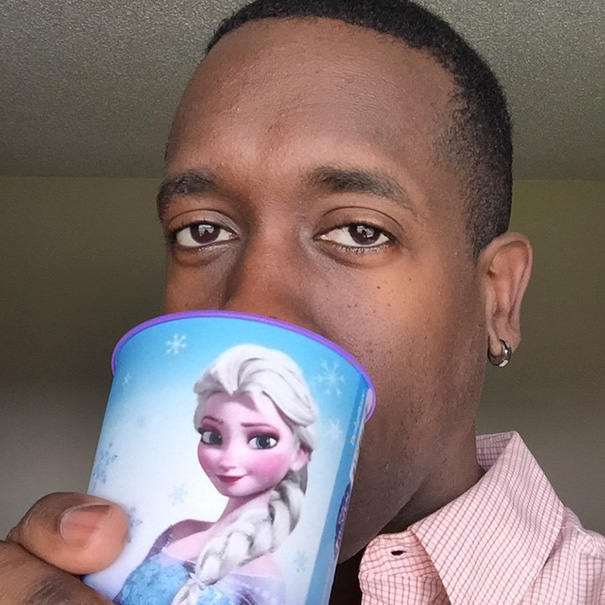 """Daddy Must Only Drink From The Elsa Cup!"""