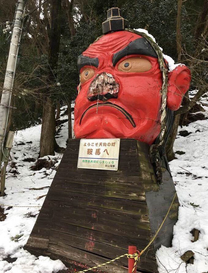 snow-broken-nose-fix-tengu-kyoto-japan-2