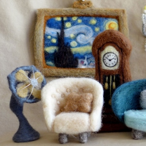 I Felt Tiny Antique Furniture From Wool