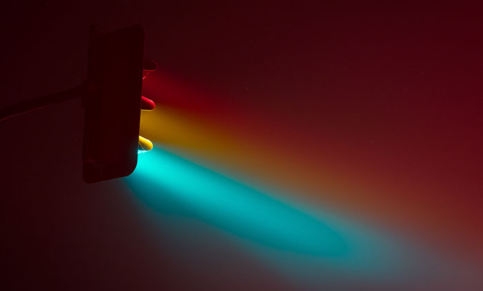 Long Exposure Photos Of Traffic Lights In The Fog By Lucas Zimmermann