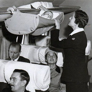 1950s Photos Reveal How Babies Traveled On Airplanes In The Past