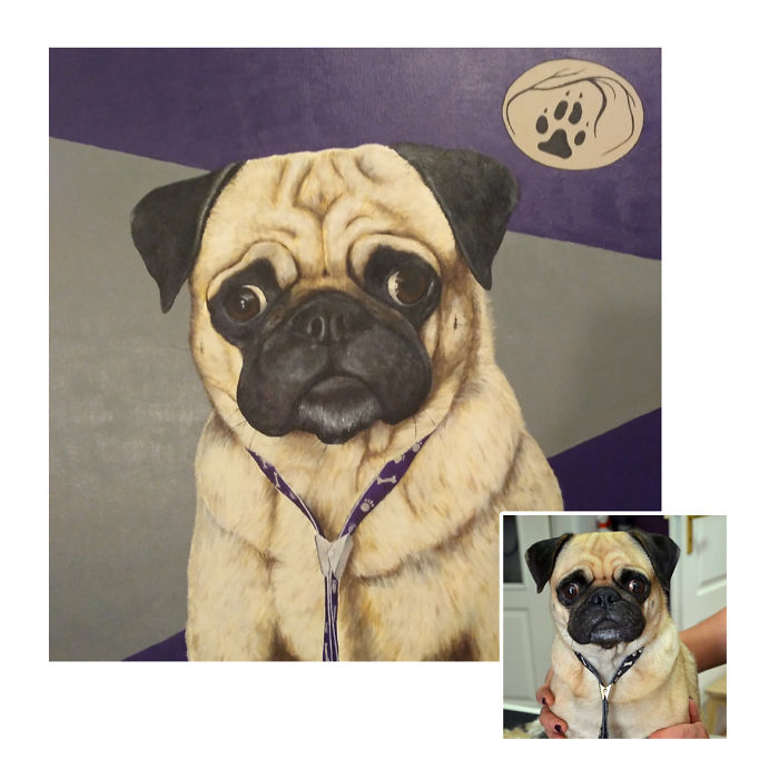 I Make Custom Pet Paitnings