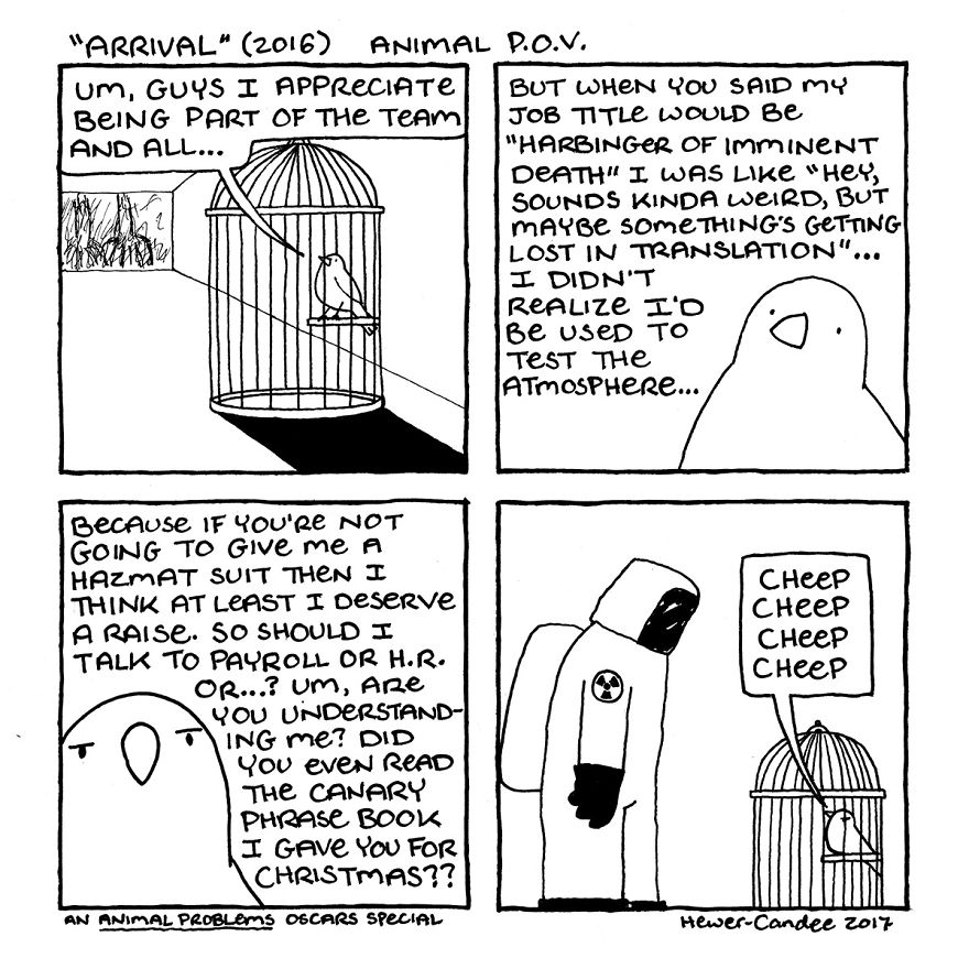 """A Canary Has Communication Problems In """"Arrival"""""""