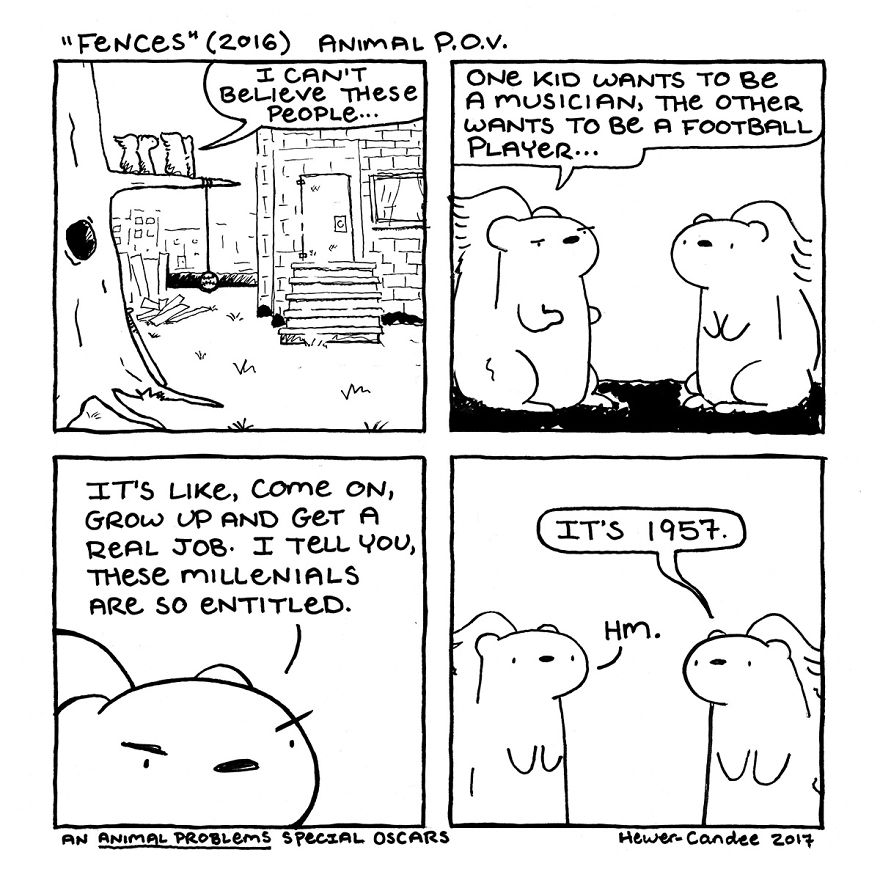 """Squirrels Discuss Kids There Days In """"Fences"""""""