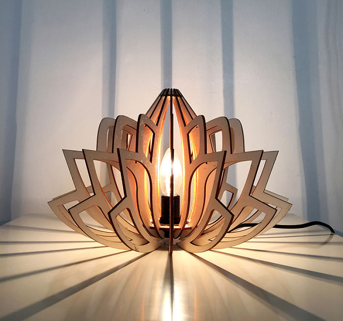 "I Create Eco-Friendly ""Lotus"" Lamps"