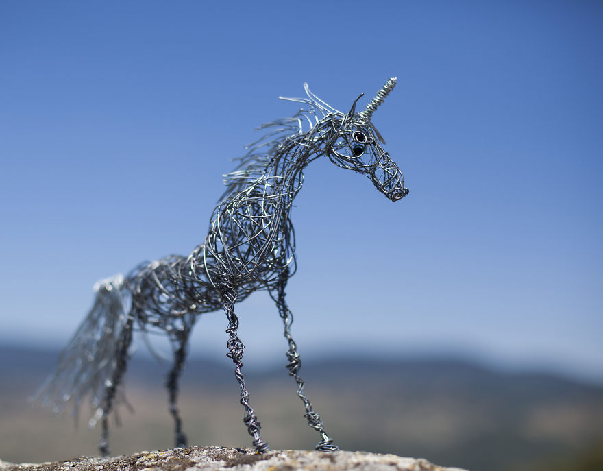I Create Animal Sculptures Using Wire To Spread Awareness About Our ...