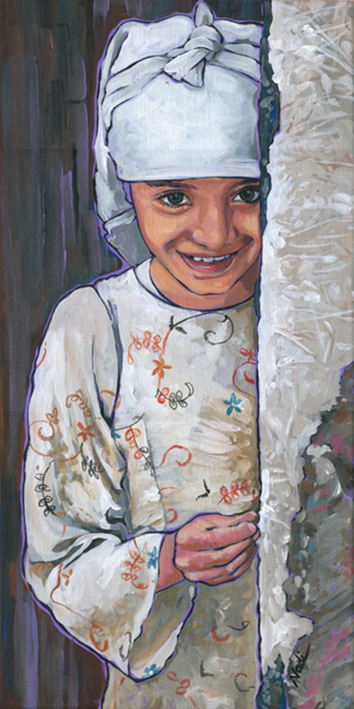 Yemeni Girl. $300 ($100 Off) And I Give 10% To Aclu. Https://www.facebook.com/pages/nadi-spencer-art/122586317072