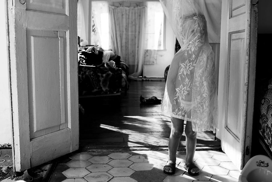 Dancing With The Curtains By Ekaterina Vadenina, Russia (1st Place In The Portrait Category, Second Half)