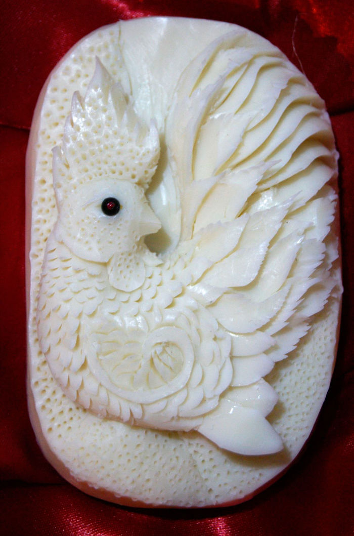28 Soap Hand Carved By The Carving Artist Daniele Barresi. World Champion Of Carving Fruit And Vegetable And World Judge In Taiwan