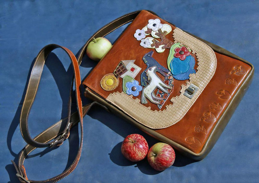Whole History In Your Hands: Amazing Leather Bags By Russian Craftswoman Bella Kolosova