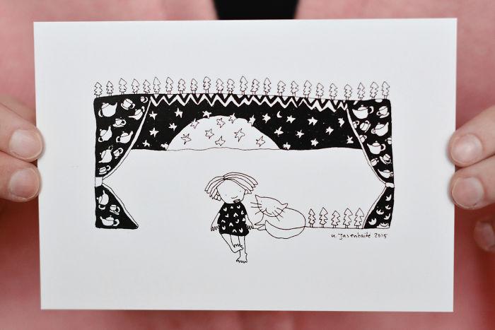 Printed Postcards By Artist, Illustrator Yaska Art