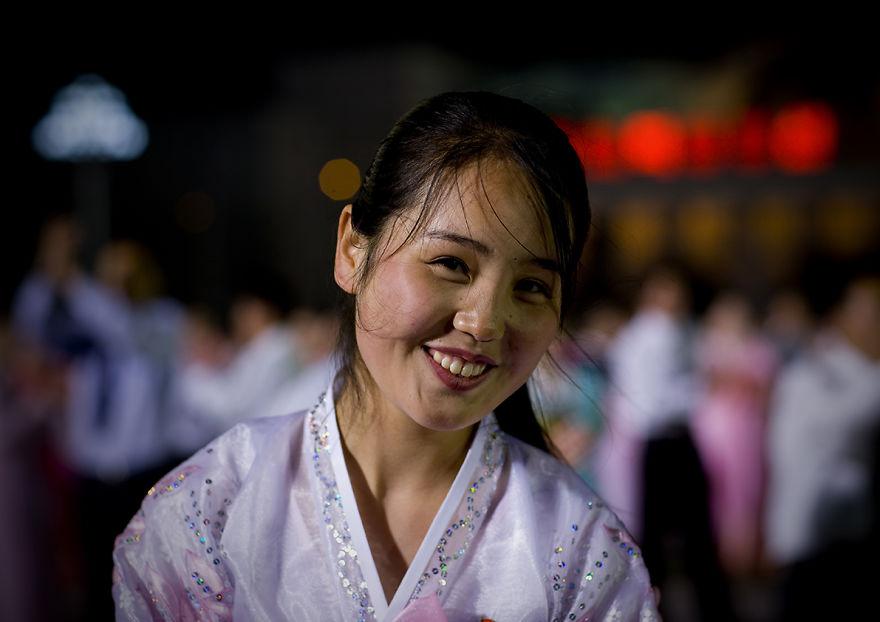Mass Dancing On April 15 In Pyongyang, North Korea