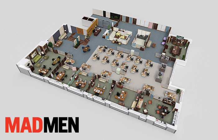 7 Incredibly Detailed 3D Floor Plans Of Your Favorite TV Shows