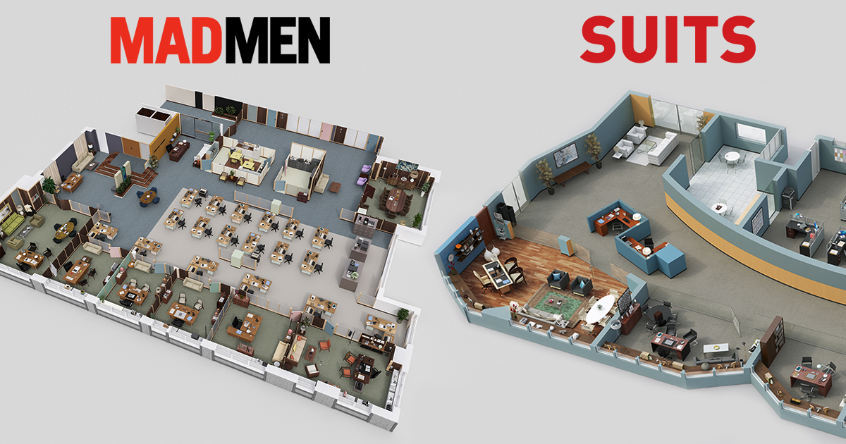 7 incredibly detailed 3d floor plans of your favorite tv shows bored panda - 3 D Floor Plans