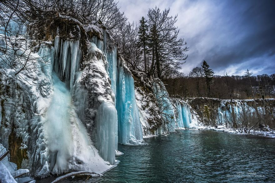 The Frozen World Of Thousand Waterfalls, Plitvice Lakes, Croatia