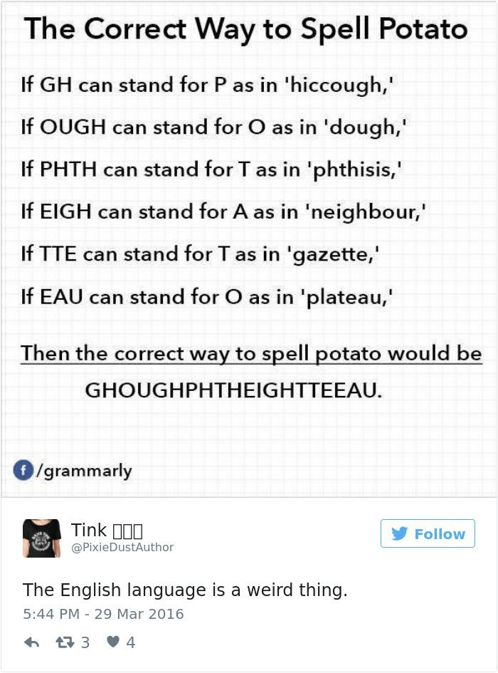 The Correct Way To Spell Potato