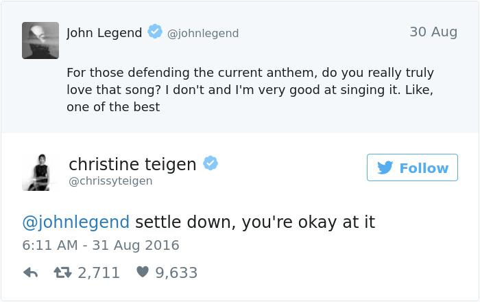 Christine Teigen Tweets