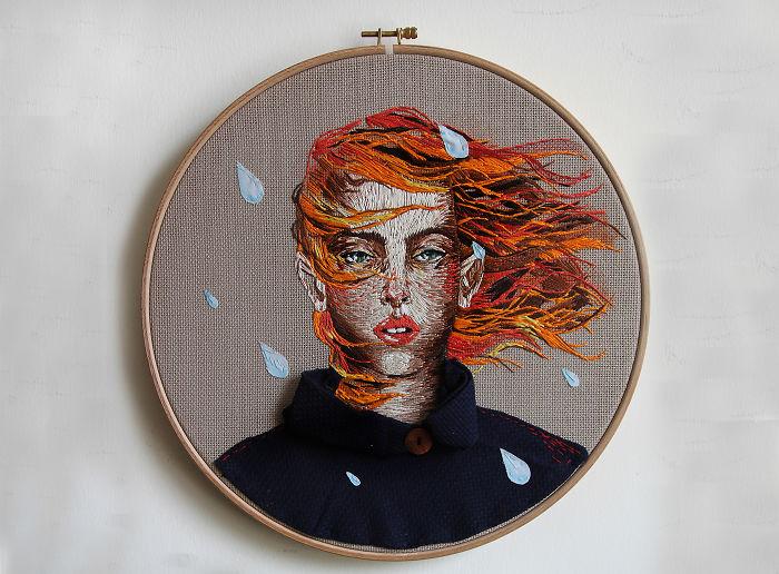 """I """"Illustrate"""" People Using Needle And Thread"""