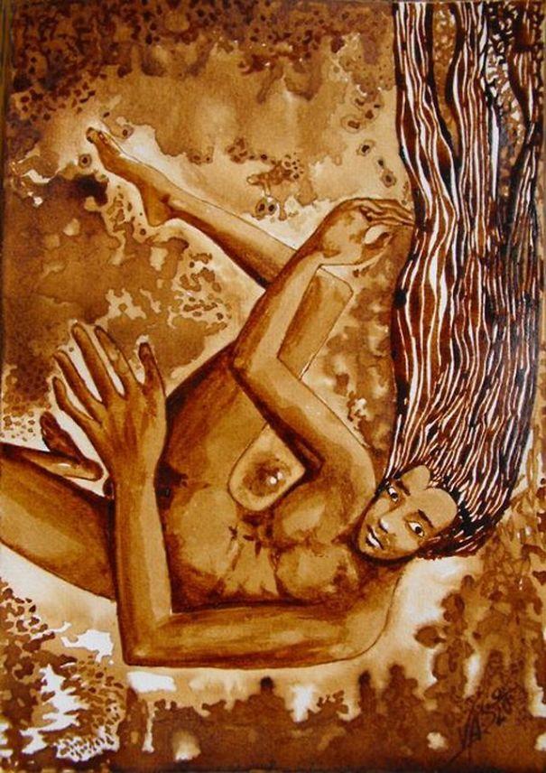 I Use Cofee To Paint My Vertigo And Delusions