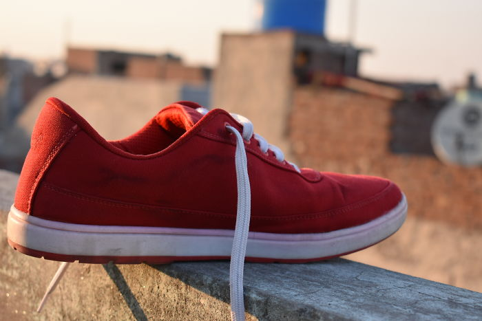 I Captured My Red Shoe With My First Dslr