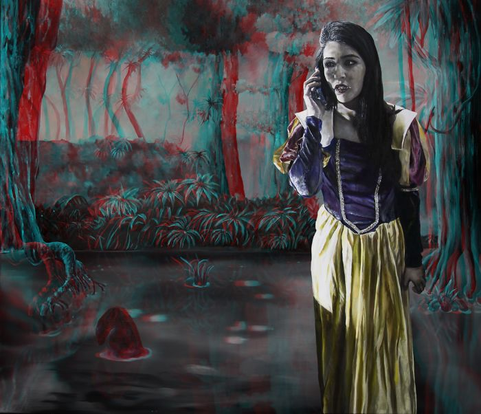 Dutch Artist Sara Le Roy Makes 3D Paintings Of Macabre Fairytales