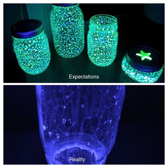 My Mason Jar Glow Stick Fairy Light Fail: