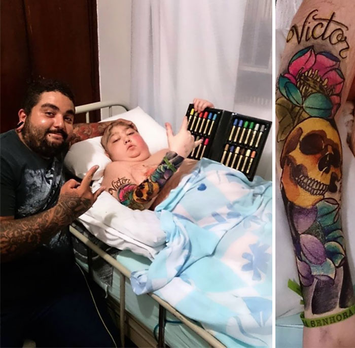 Tattoo Artist Grants 12-Year-Old Boy's Last Wish With Colourful Markers