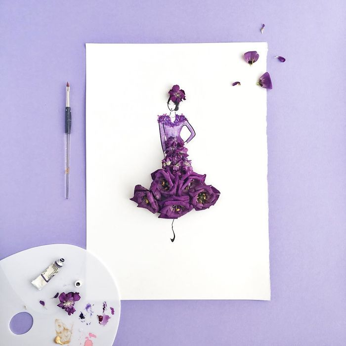 I Created An Illustrated Alter Ego Sassy Du Fleur, Out Of Petals