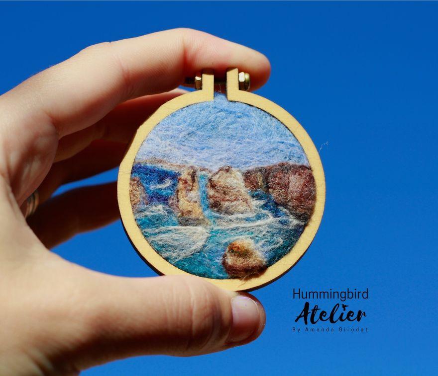 12 Apostles, Australia Needle Felt Mini Hoop