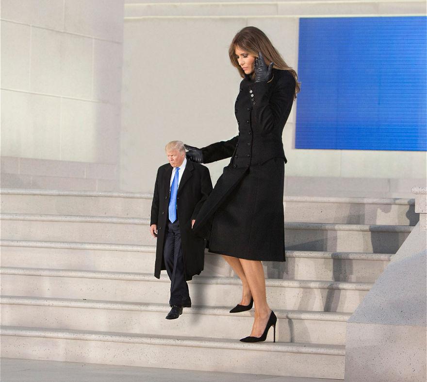 Careful Down Those Big Steps Mr. President
