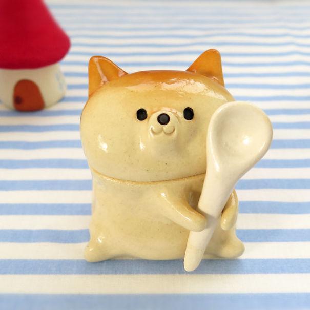 Shiba Inu Sugar Pot