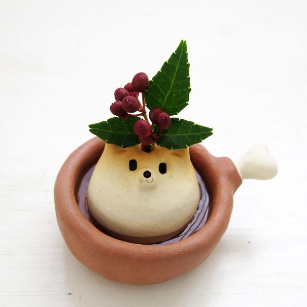 Shiba Inu Single-Flower Vase
