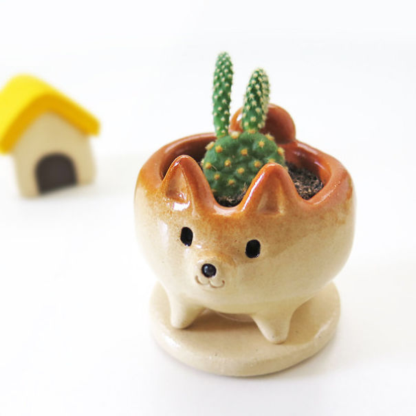Shiba Inu Flower Pot