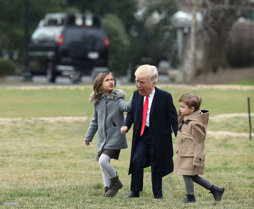 Trump With The Grandkids