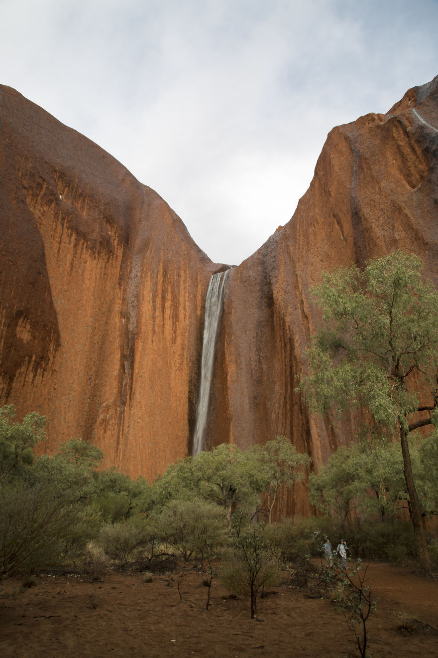 A Waterfall On Uluru. A Rare Sight! NT