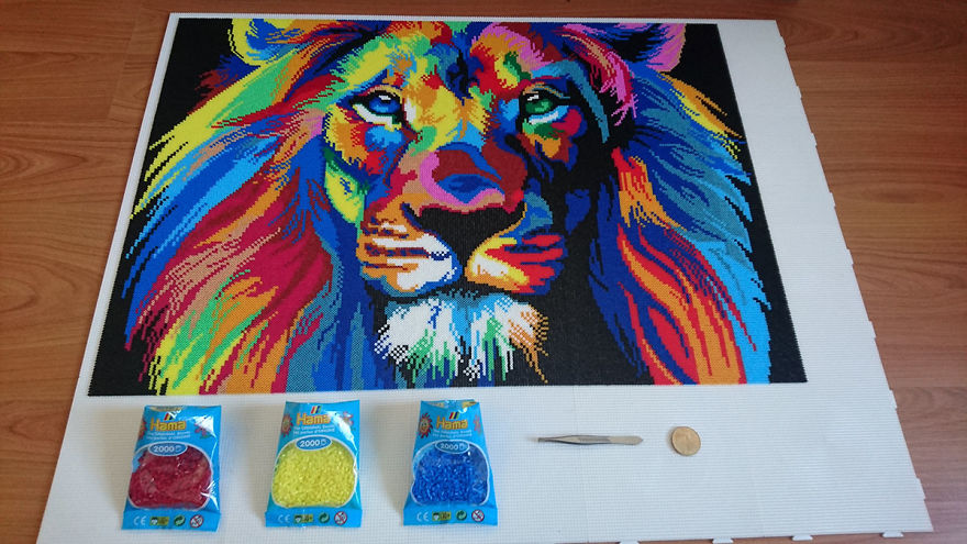 I Spent 85 Hours Using Tweezers And 45k Beads To Made A