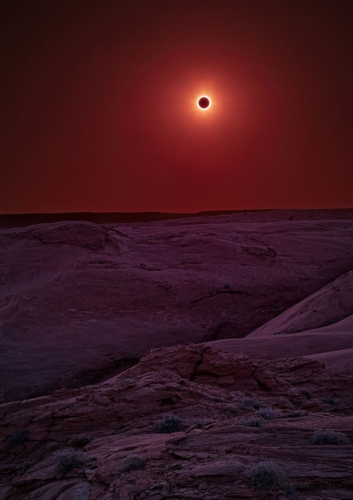 Solar Eclipse In Canyon