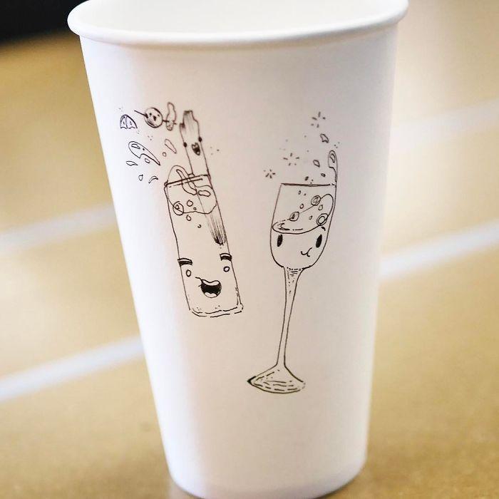 прикольные рисунки на стаканы оборудован